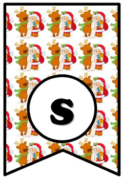 Santa Claus Is Coming To Town, Christmas, Bulletin Board Sayings Pennant Banner