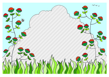 Free Frame  Colored Clip art