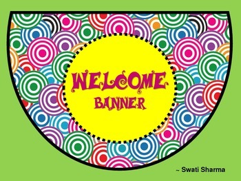 Free Welcome Banner