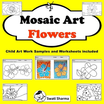 Spring Art Project Mosaic Pattern Flowers
