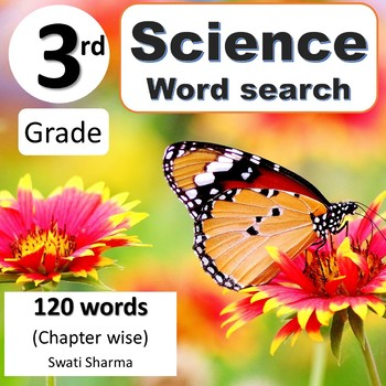 3rd Grade Science Words, Word Search Worksheets, No Prep Sub Plan