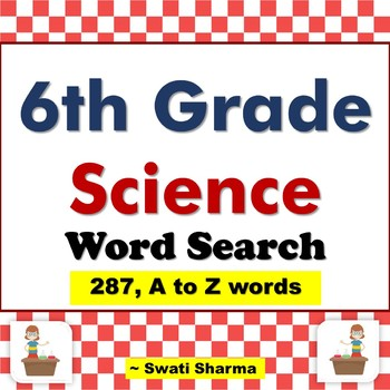 6th Grade Science, Word Search Worksheets