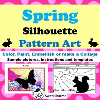 Spring Silhouette Art Project, Pattern Art, Pop Art