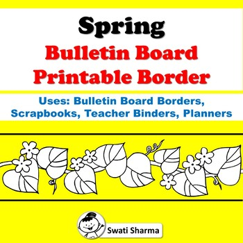 Spring Bulletin Board Printable Borders for Coloring
