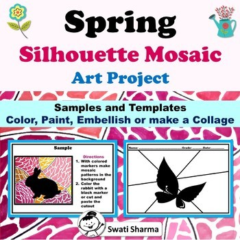 Spring Silhouette Mosaic Art Project