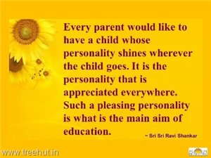 Quote on Education, by Sri Sri Ravi Shankar