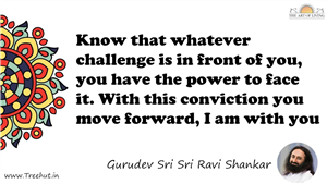 Know that whatever challenge is in front of you, you have... Quote by Gurudev Sri Sri Ravi Shankar, Mandala Coloring Page