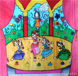Dances of India Child Art