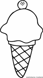Softy Ice Cream Coloring Page