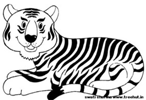 Free Printable Tiger Coloring Page