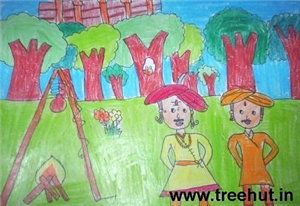 Child Art with Crayons by Study Hall Children