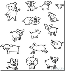 Pig and Piglet Coloring Pages
