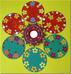 Easy CD Rangoli Designs for Diwali