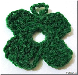 4 Leaf Clover Crochet Bunting Free Pattern