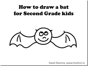 Learn to Draw a Halloween bat in 1 minute with Video instructions