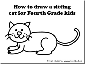 Learn to draw a sitting cat in 1 minute, Video