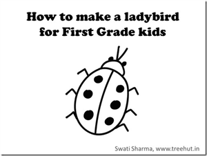 Learn to draw a Ladybird in 1 minute, video for grade one students