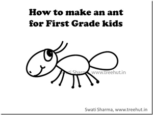 How to make an ant quickly, video instructions