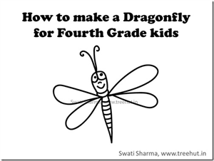 Dragonfly drawing video tutorial for Fourth graders