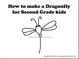 Video tutorial for dragonfly drawing for Second grade kids