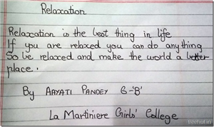 Inspiring Poems by students of Grade Six, La Martiniere Girls' College, Lucknow