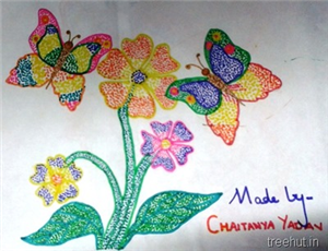 Colourful Dot Art Pictures by Kids