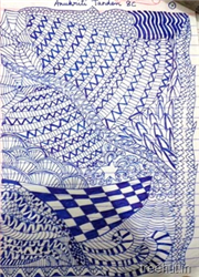 Zentangle patterns by children