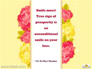 Quote on Smile, by Sri Sri Ravi Shankar