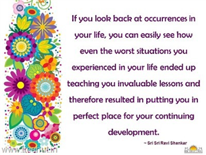 Quote on Past Experiences in Life , by Sri Sri Ravi Shankar