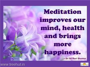 Quote on Meditation, by Sri Sri Ravi Shankar